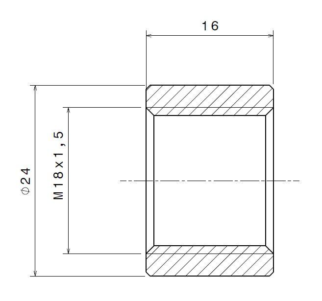 Přivařovací adaptér pro lambda sondu (M18x1,5)